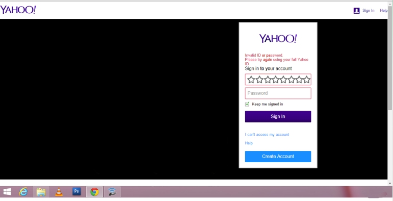 yahoo log in