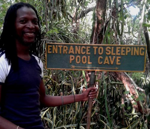 Entrance to the sleeping pool cave