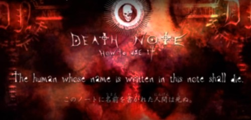 Death Note Inscription The human whose name is written in this note shall die