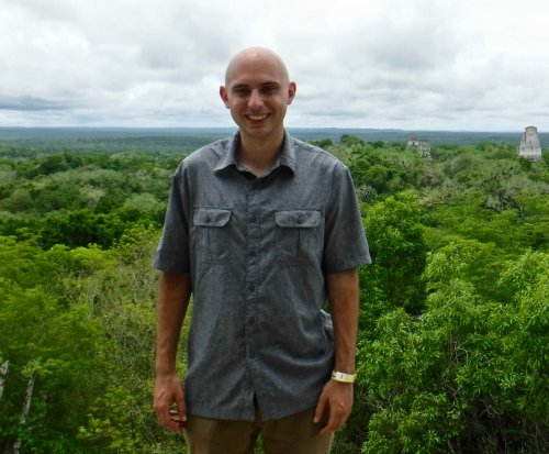 Josh at Mayan site of Tikal in Peten, Guatemala.