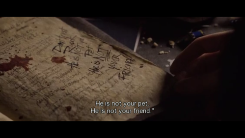text in death note Don't trust Ryuk he is not your pet he is not your friend'