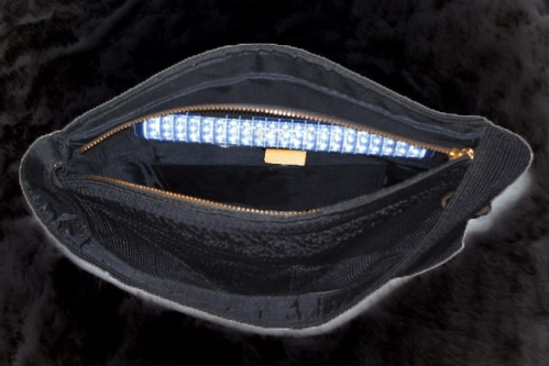 Vanity light inside handbag