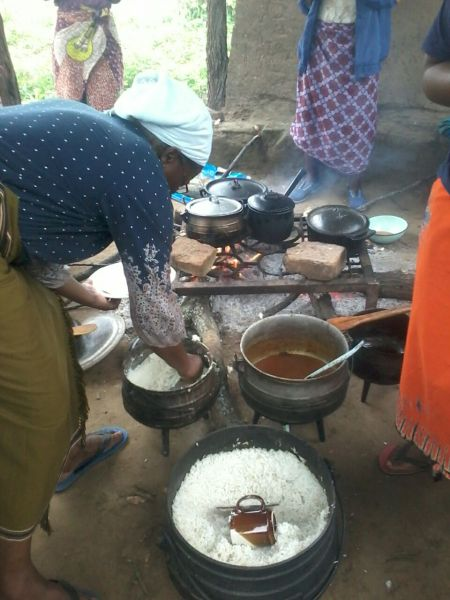 cooking a traditional feast