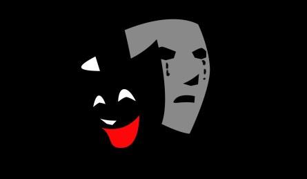 Smiling Mask Sad Face beneath