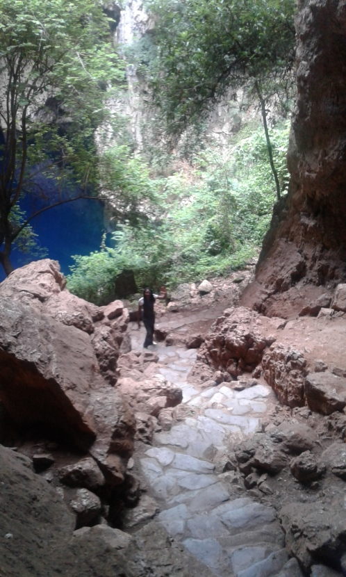 Chinhoyi sleeping pool cave