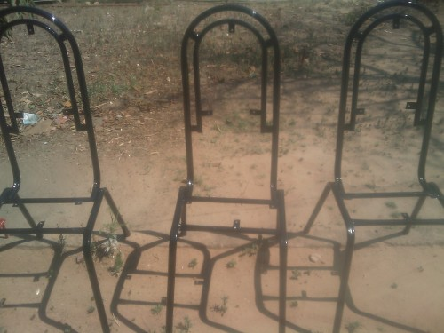 black frame kitchen chairs
