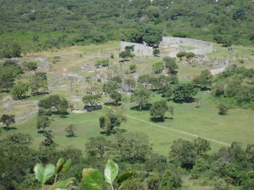 View from the top Great Zimbabwe