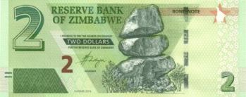 zimbabwean 2 dollar bond notes