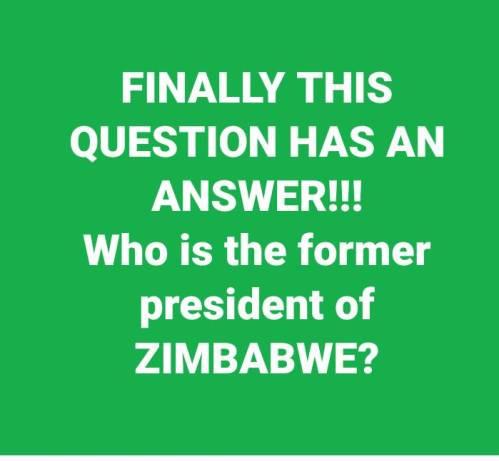 Who is the former president of Zimbabwe