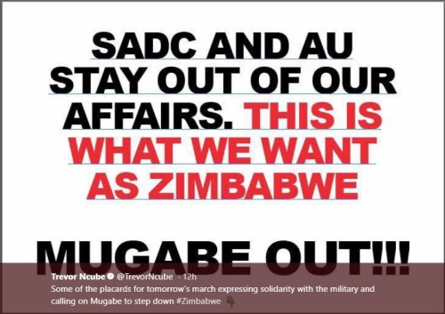 SADC and AU Stay out of our affairs