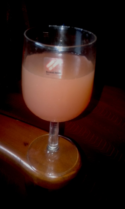 Juice in a wine glass