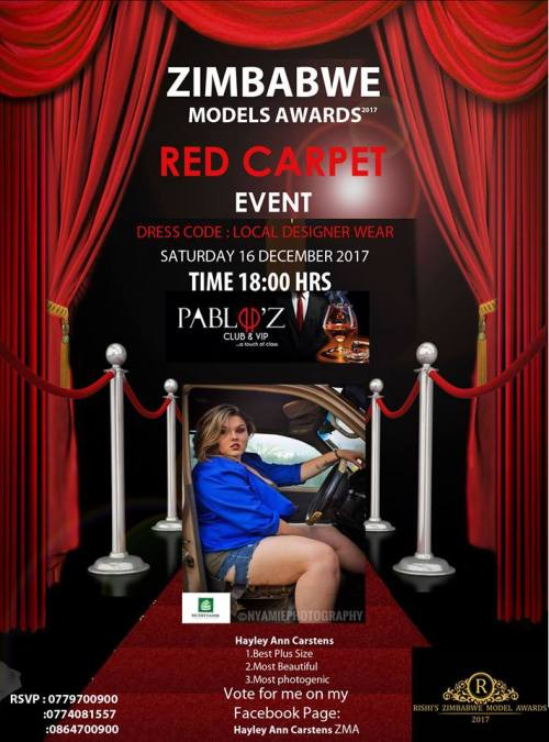 Zimbabwe Models Awards Hayley Ann Carstens