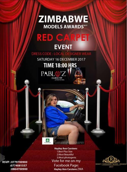 Zimbabwe Models Awards Hayley Ann Carstens
