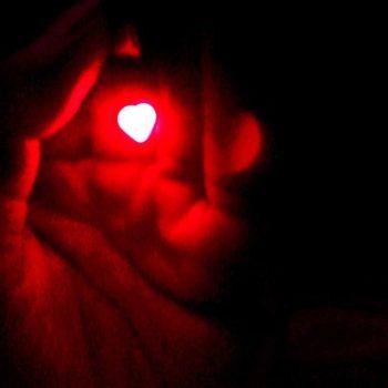 heart petal in hand