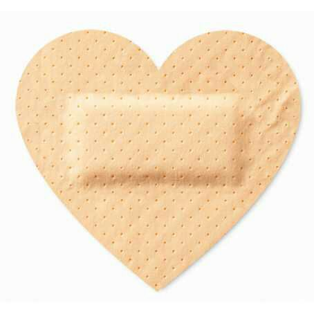 heart shaped bandage