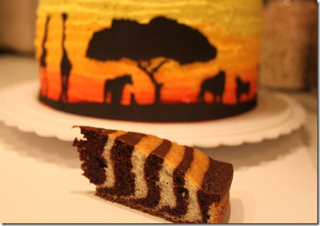 africa themed cake
