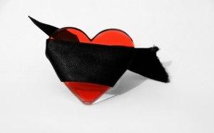 Blind folded heart