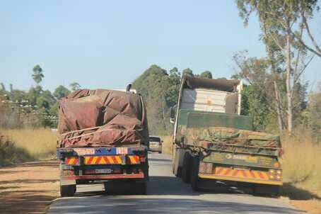 Overtaking truck