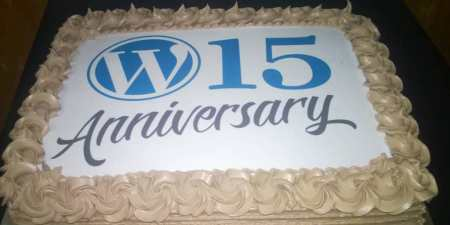 WordPress 15 cake