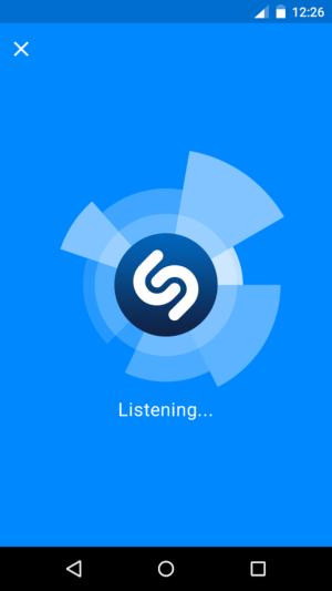 Shazam listening