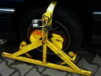 A clamped tyre