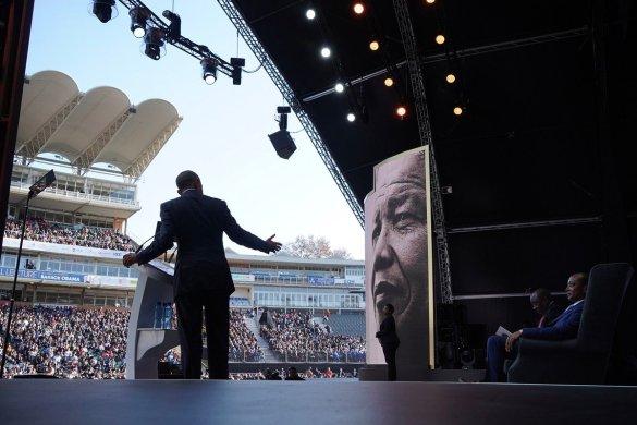 Barack obama Nelson Mandela lecture