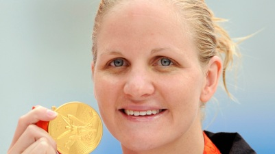 Gold medalist Kirsty Coventry