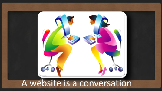 A website is a conversation