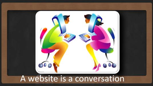 A website is a conversation