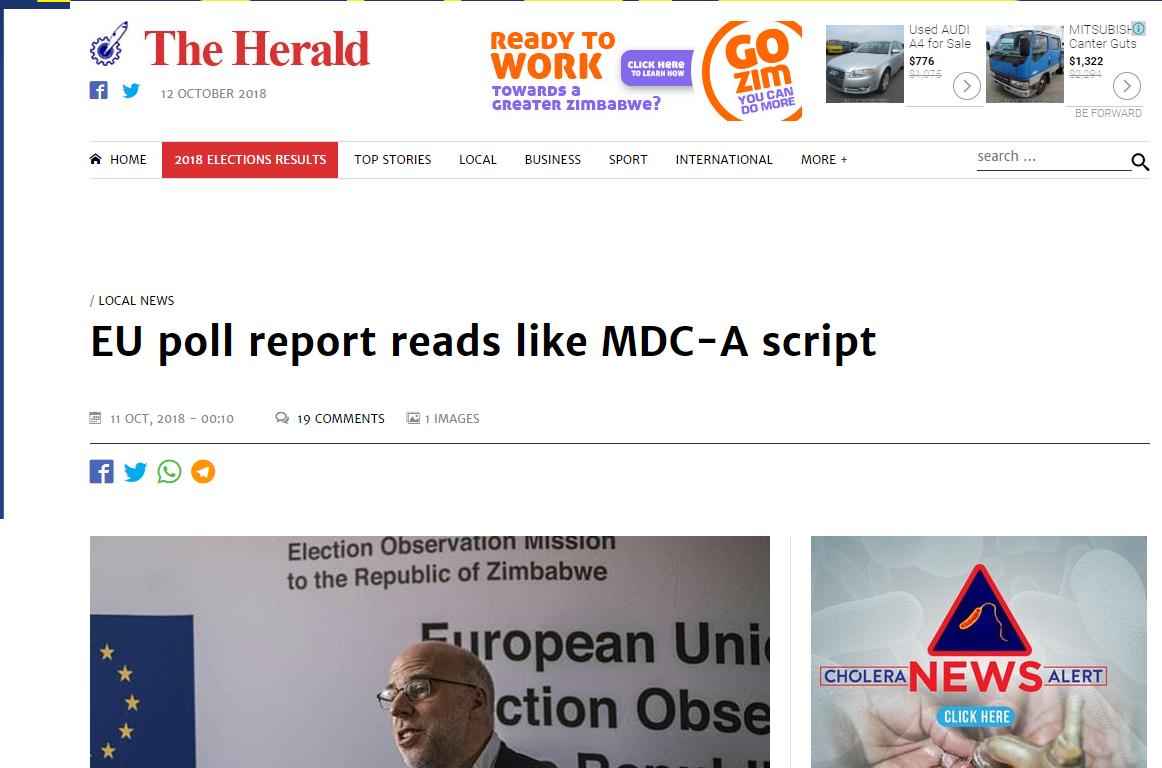 EU Poll reads like MDC script