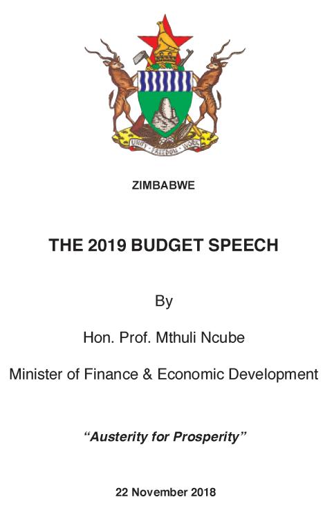 Zimbabwe 2019 budget speech