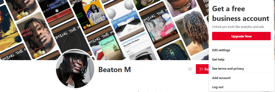 upgrade pinterest account to business account