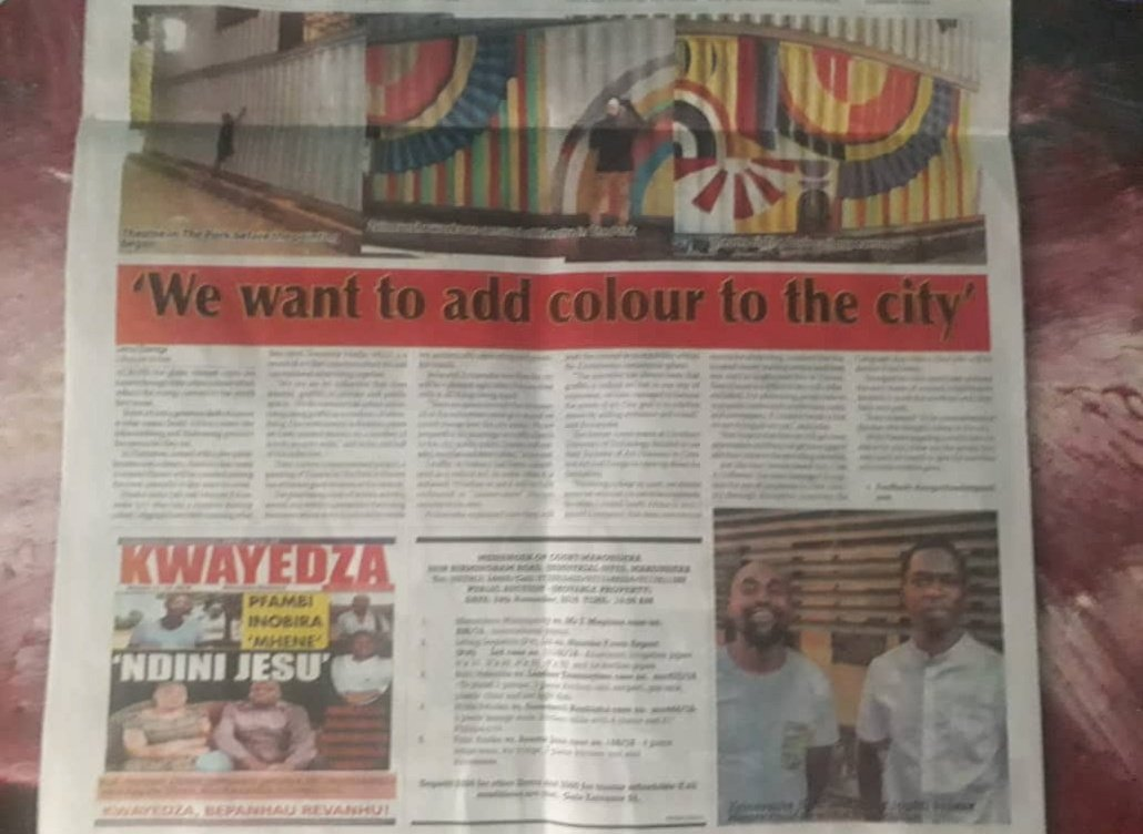 we want to add colour to the city