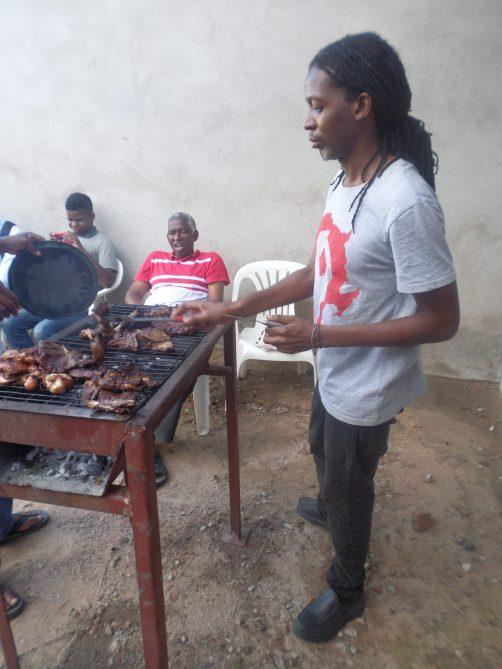 Barbecue meat braai