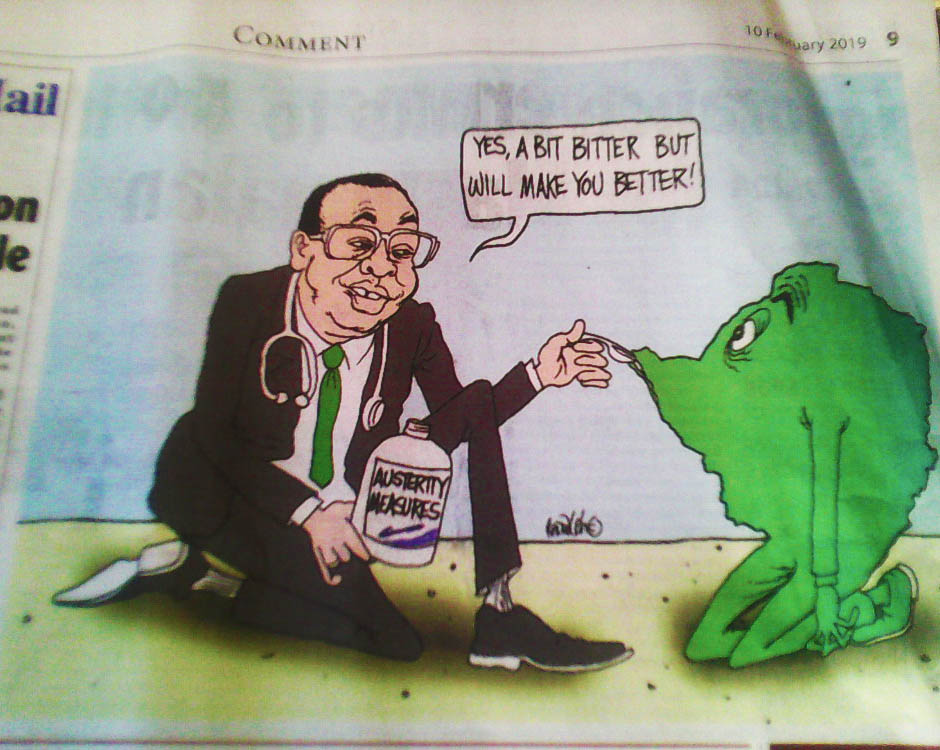 sunday mail cartoon, yes a bit better but will make you better soon