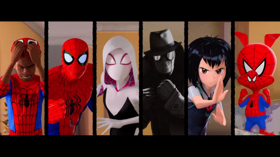 the spider people from into the spiderverse