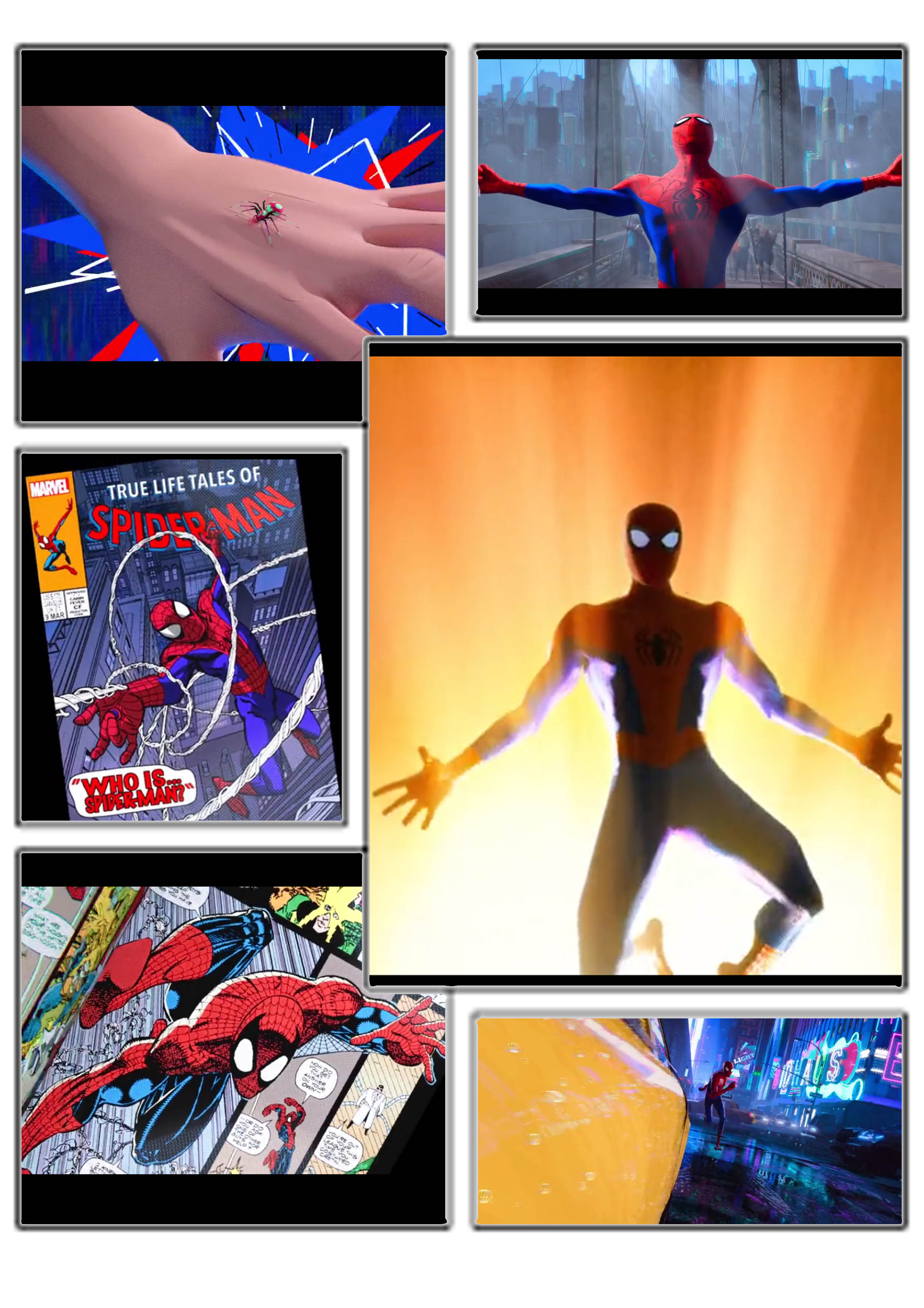 spiderman summary comic frame
