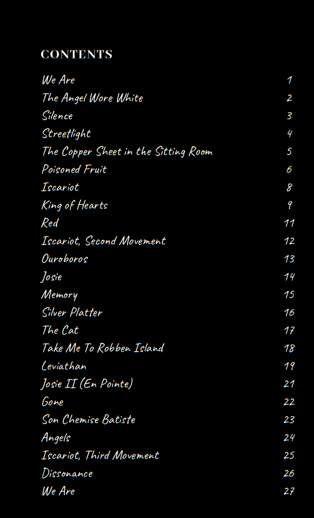 Iscariot contents page
