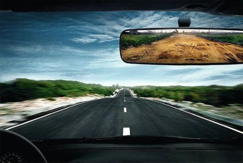 windscreen larger than the rear view