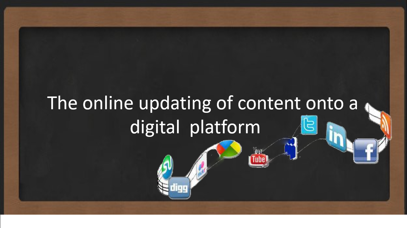 The online Updating of  content onto a digital platform - Blogging
