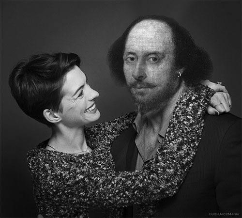 Anne hathaway with her hsband william shakespeare