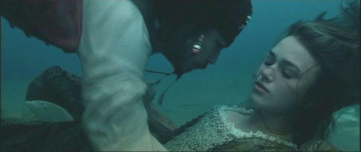 Jack Sparrow saving Elizabeth