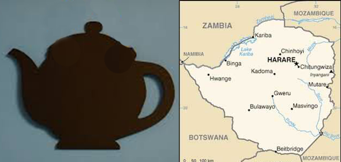 teapot shaped country