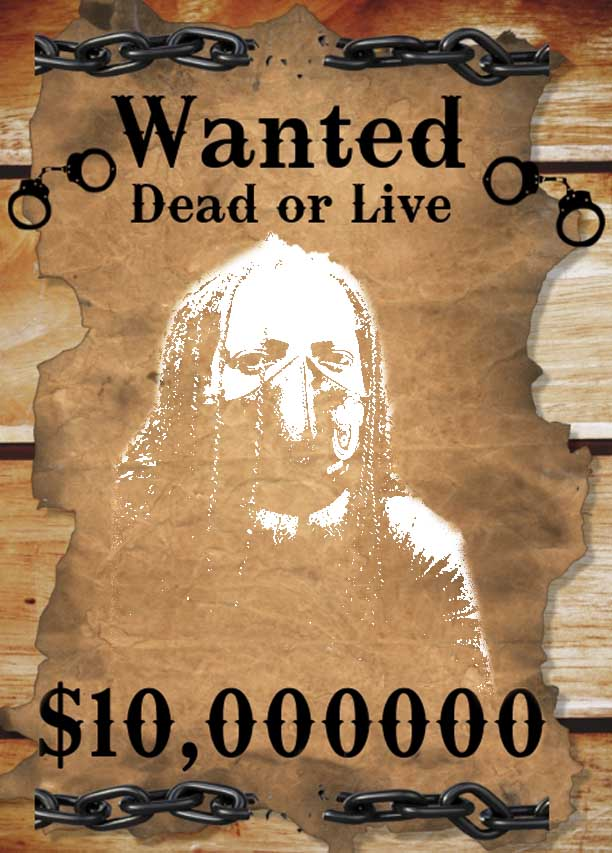 wanted dead or alive B the blogger