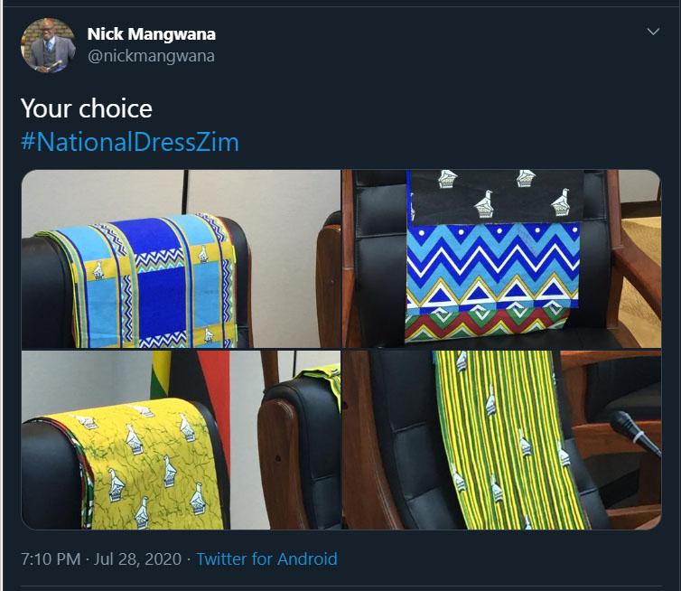 Your choice #NationalDressZim Nick Mangwana