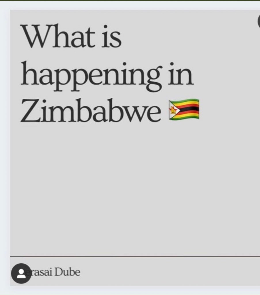 what is happening in Zimbabwe