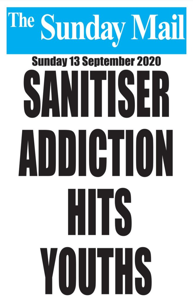 sanitiser addiction