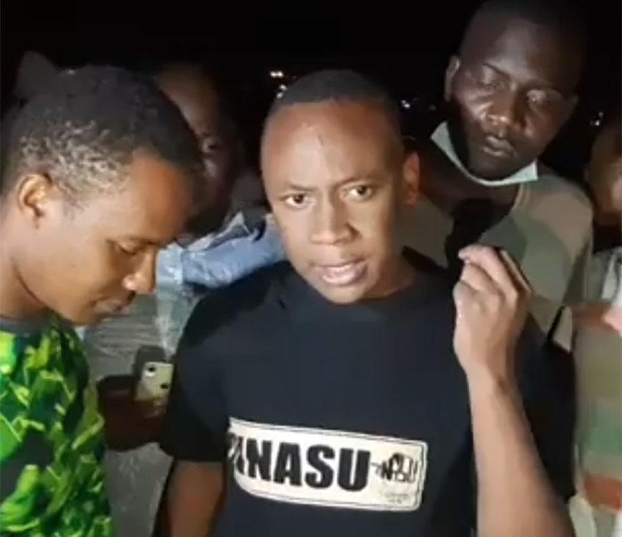 Takudzwa Ngadziore addresses press