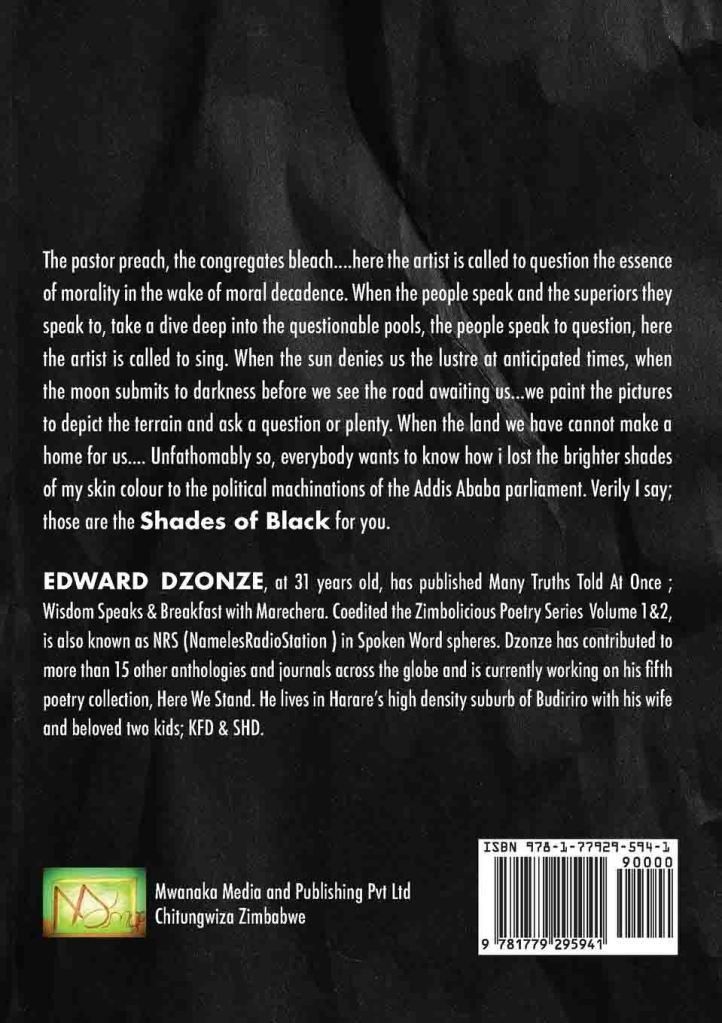 shades of black back cover edward dzonze