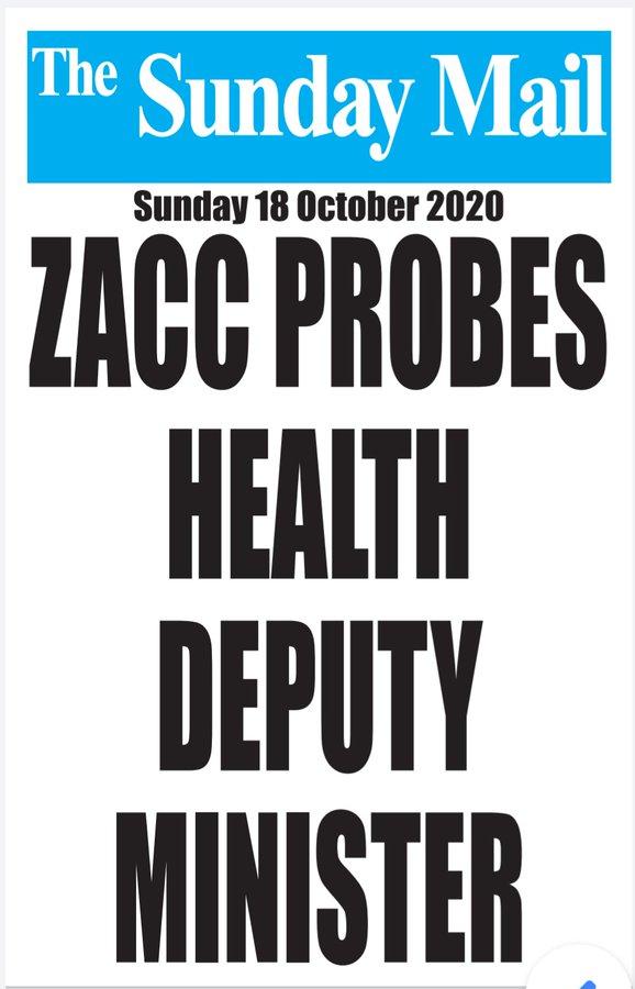 zacc probes health deputy minister